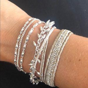 Silver Stella & Dot Wrap Bracelet